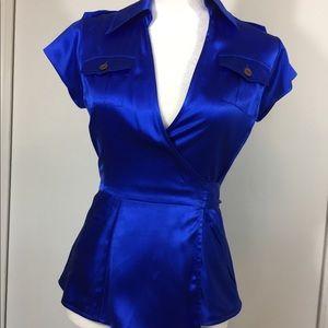 Diane von Furstenberg Silk Wrap Top size 0